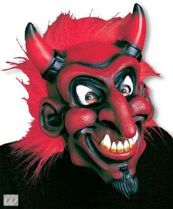 beelzebub mask with red hair halloween mask mask devil mask with hair horror. Black Bedroom Furniture Sets. Home Design Ideas