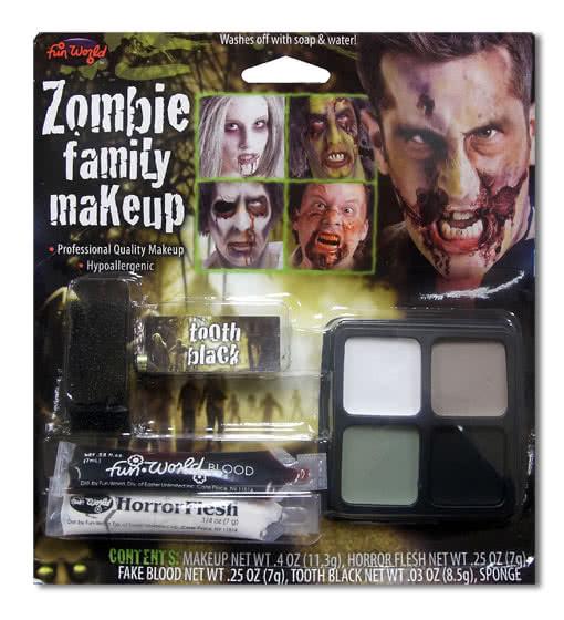 Zombie Make Up Set Zombie makeup made easy horror shopcom - Makeup Set Halloween