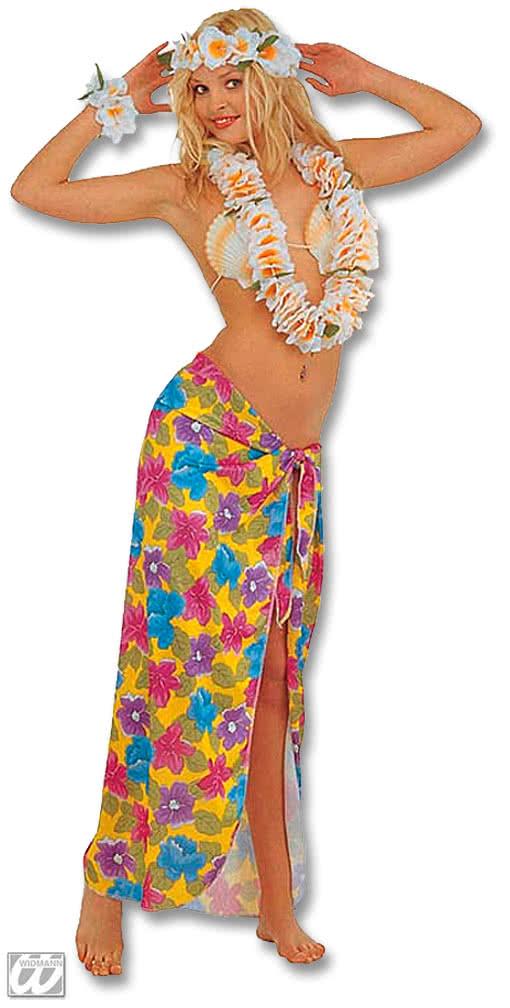 Hawaiian Sarong Yellow Hawaiii Costume Costume South Seas island