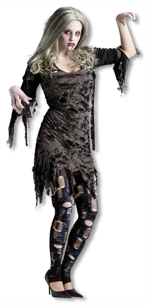 living dead zombie kost m ml zombiekleid f r eine zombiebraut horror. Black Bedroom Furniture Sets. Home Design Ideas