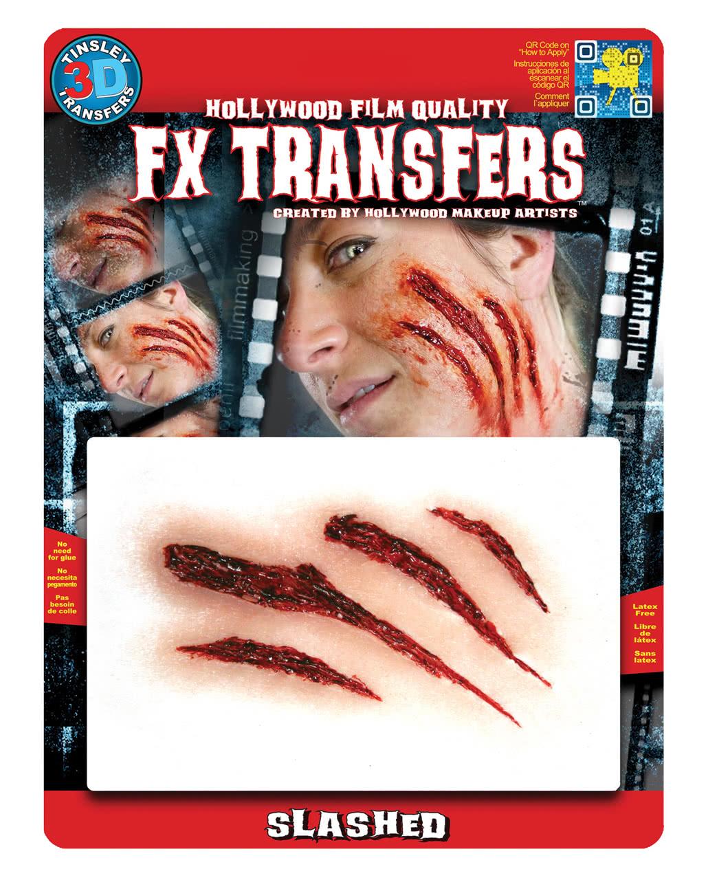 3d fx transfer tattoo wunde kratzer spezial effekt make up horror. Black Bedroom Furniture Sets. Home Design Ideas