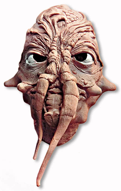 alien monstrosity mask skin coloured horror maske kost m alien maske alien halloween science. Black Bedroom Furniture Sets. Home Design Ideas