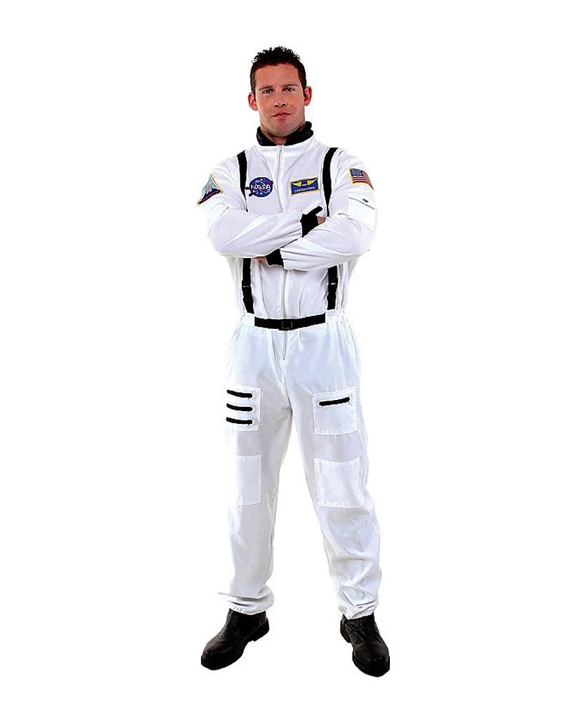 astronauten overall wei raumfahrer kost m horror. Black Bedroom Furniture Sets. Home Design Ideas