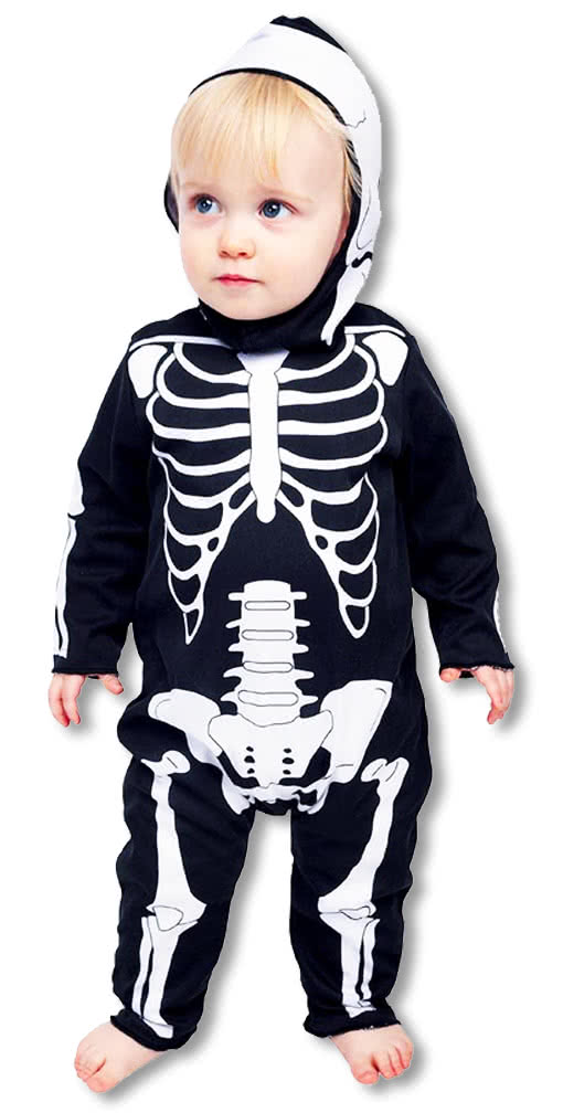 baby anzug skelett horror strampler babys skelett kost m. Black Bedroom Furniture Sets. Home Design Ideas