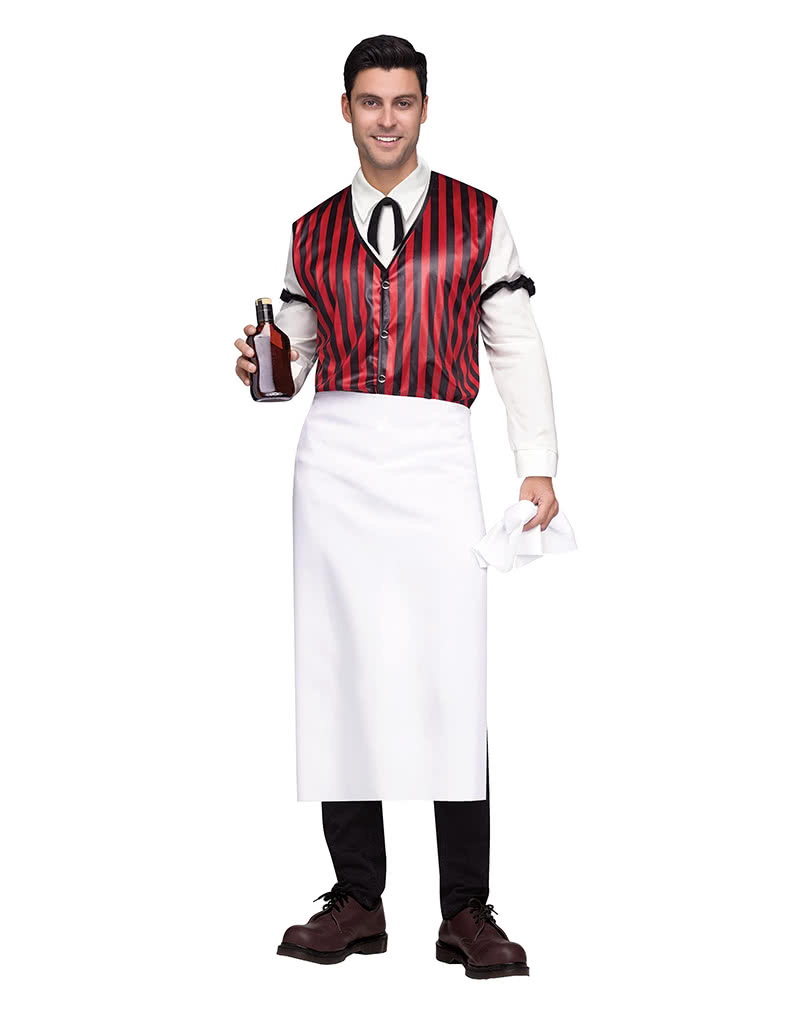 saloon bartender men s costume kellner trim horror. Black Bedroom Furniture Sets. Home Design Ideas