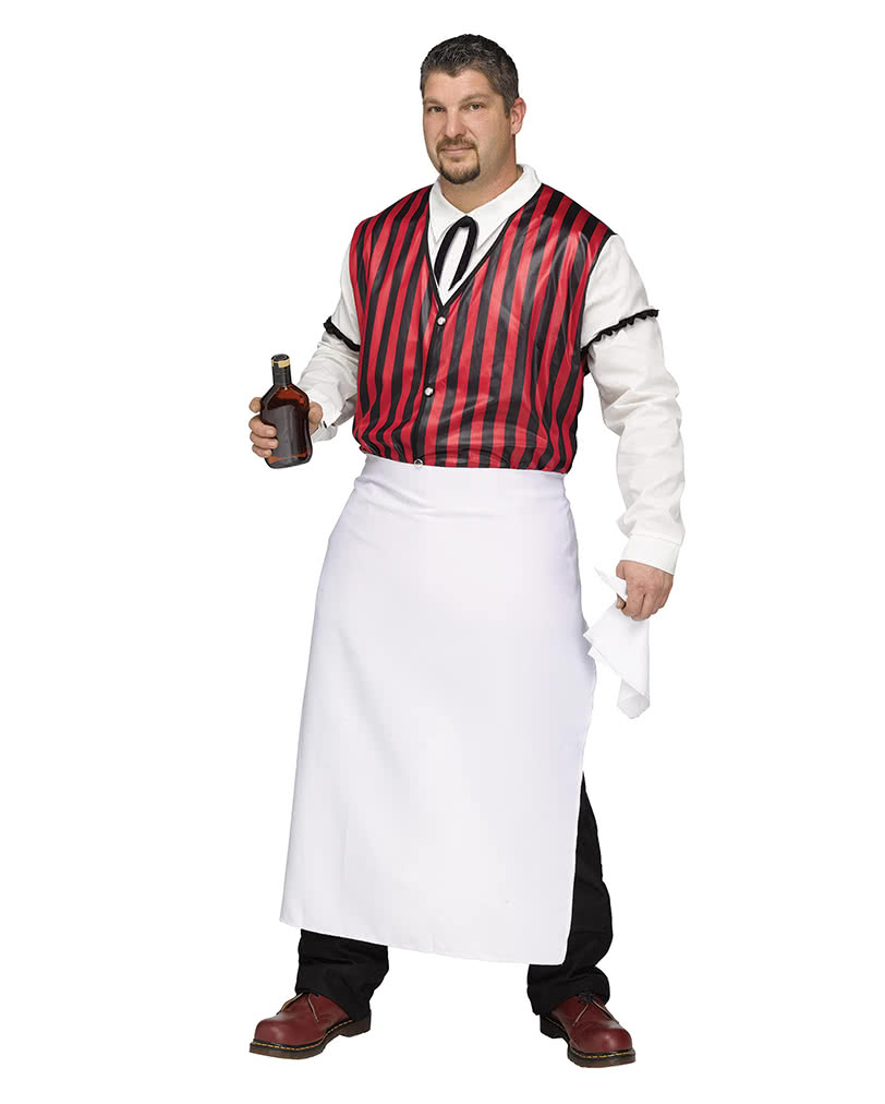 Saloon bartender costume Plus Size | Costume Oversized | horror-shop.com