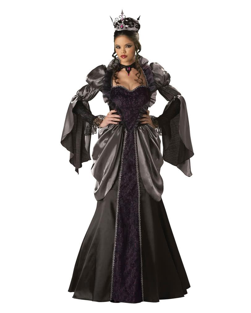 b se k nigin kost m deluxe elegantes halloween abendkleid horror. Black Bedroom Furniture Sets. Home Design Ideas