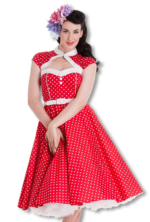 bolero petticoat dress rockabilly dress 50s dress horror. Black Bedroom Furniture Sets. Home Design Ideas