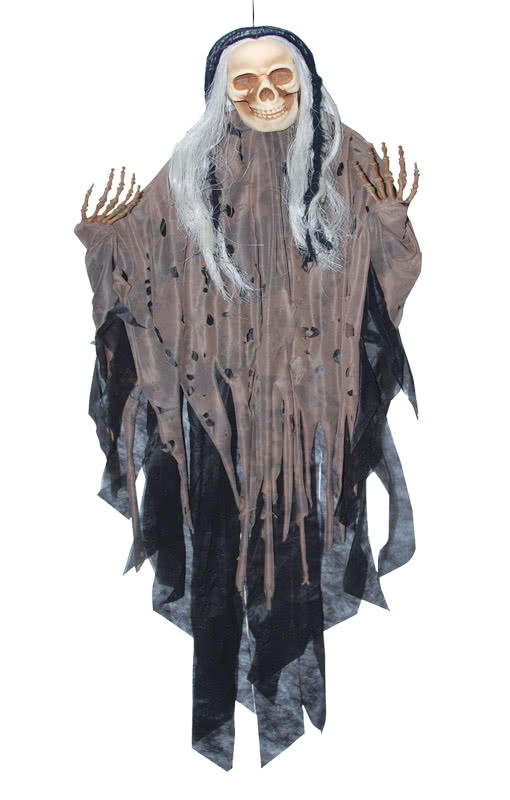 hanging reaper braun halloween fetzenskelett als dekoration horror. Black Bedroom Furniture Sets. Home Design Ideas