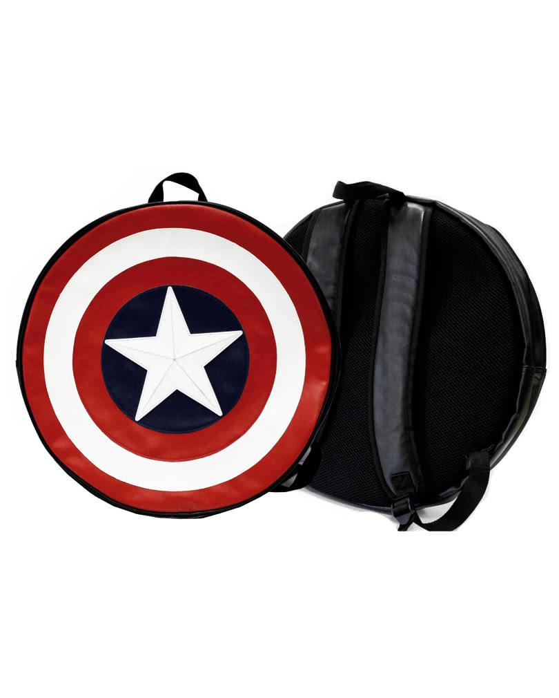 captain america schild rucksack lizenzierter marvel rucksack horror shop com. Black Bedroom Furniture Sets. Home Design Ideas