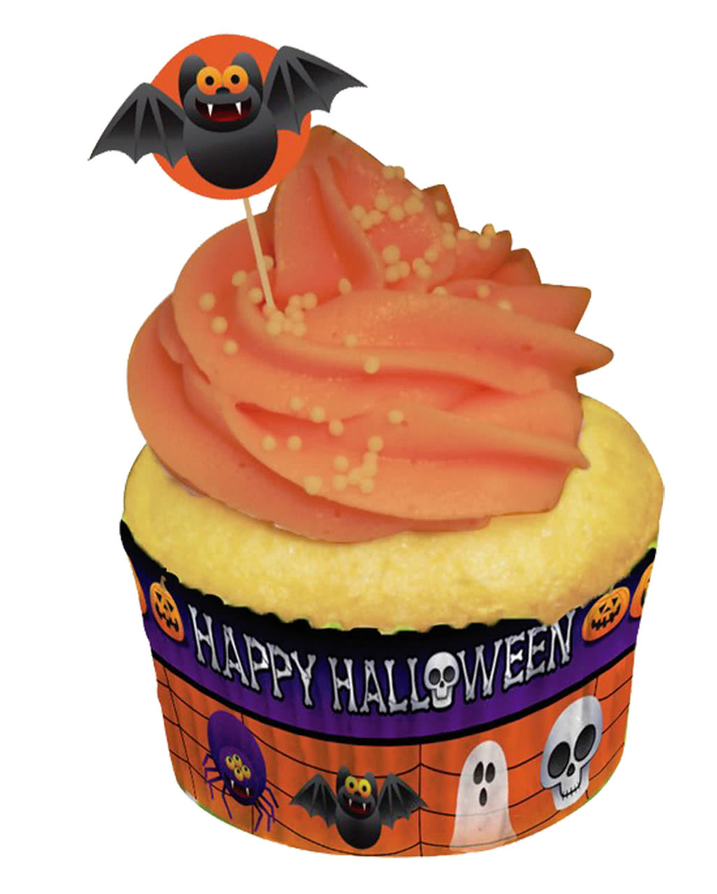 cupcake cups mit picker halloween muffin formen horror. Black Bedroom Furniture Sets. Home Design Ideas
