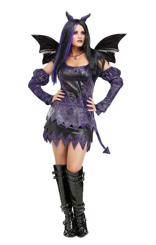 drachen fee damen kost m drachenscharfes fantasy kost me f r karneval horror. Black Bedroom Furniture Sets. Home Design Ideas