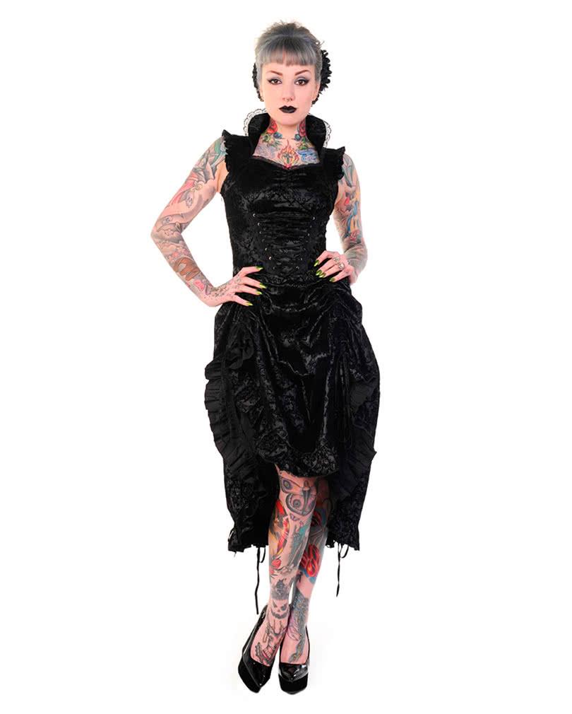 steampunk kleid schwarz gothic kleid schwarzes kleid horror. Black Bedroom Furniture Sets. Home Design Ideas