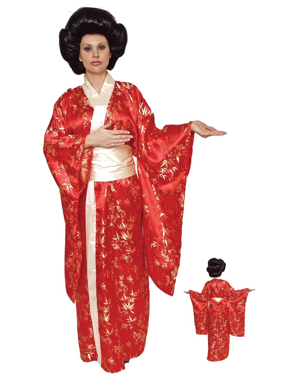 geisha kimono rot premium kost m edles geisha kost m horror. Black Bedroom Furniture Sets. Home Design Ideas