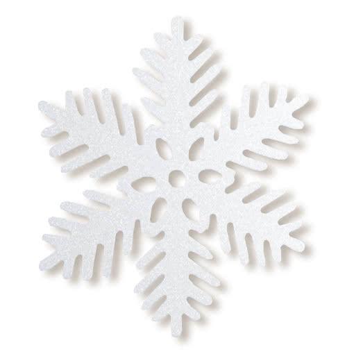 glitzer schneekristall 35 cm weihnachtsdeko zum aufh ngen. Black Bedroom Furniture Sets. Home Design Ideas