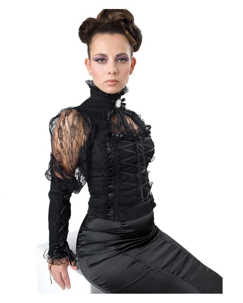 gothic bluse mit spitze spitzenbluse gothic oberteil. Black Bedroom Furniture Sets. Home Design Ideas