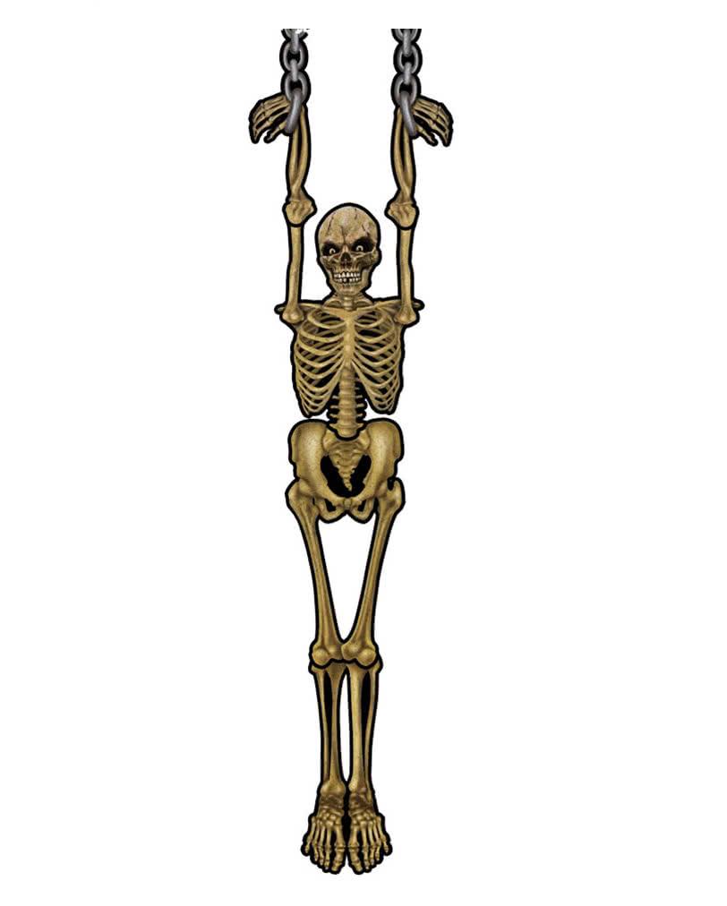 h ngende skelett wanddeko faltbare karton deko f r halloween horror. Black Bedroom Furniture Sets. Home Design Ideas