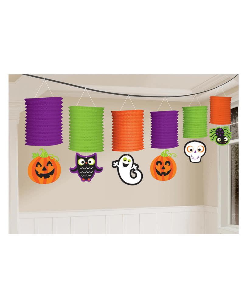 Halloween lampion girlande als bunte partydeko zum - Halloween girlande ...