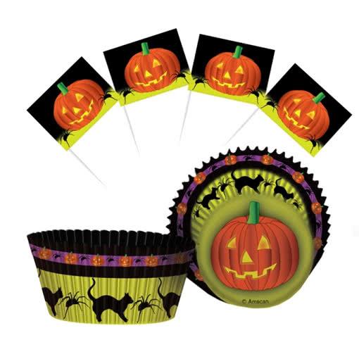 Halloween muffin formen backen f r halloween papierf rmchen horror - Halloween muffins deko ...