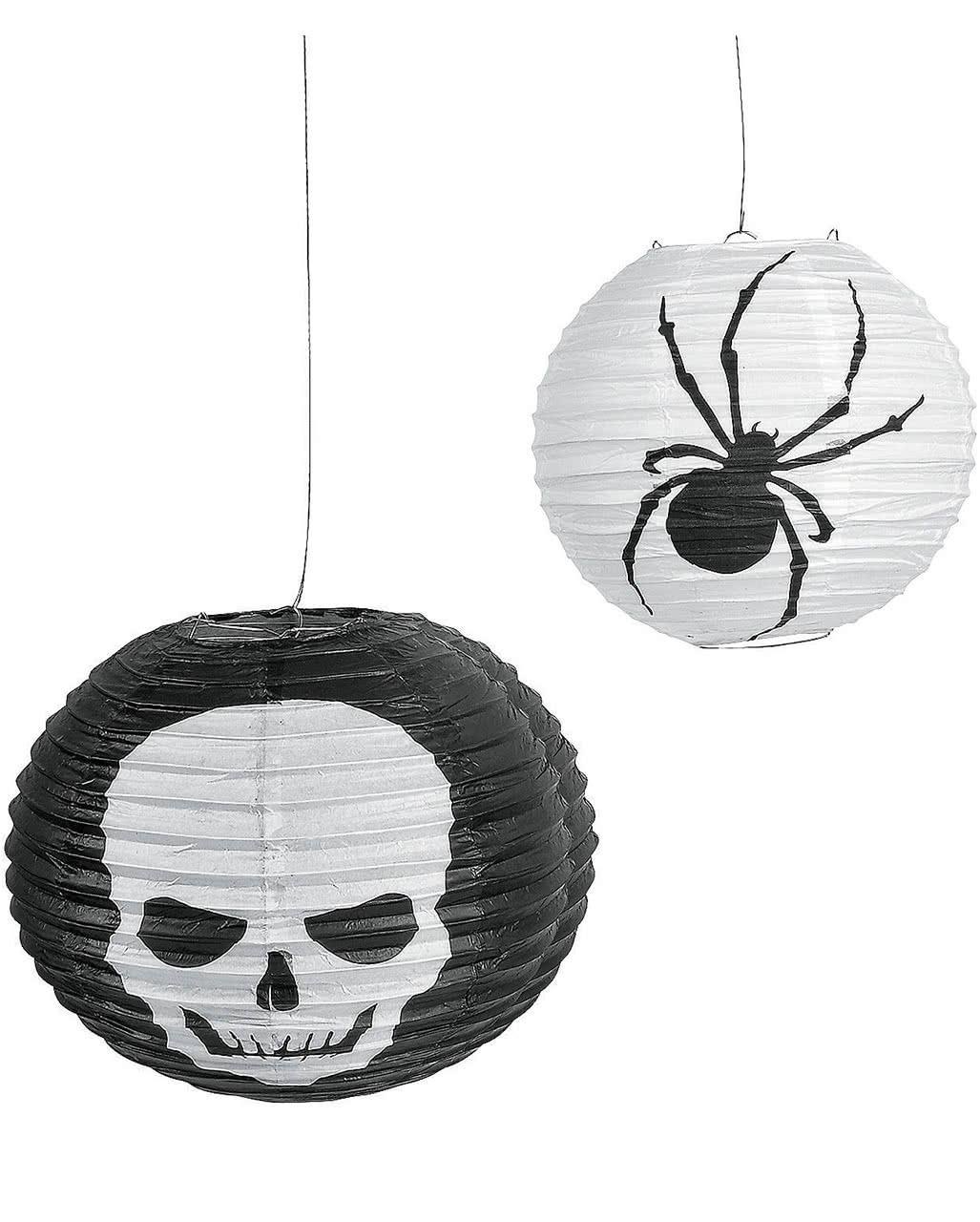 halloween skull spider lampions 6er pack party deko horror. Black Bedroom Furniture Sets. Home Design Ideas