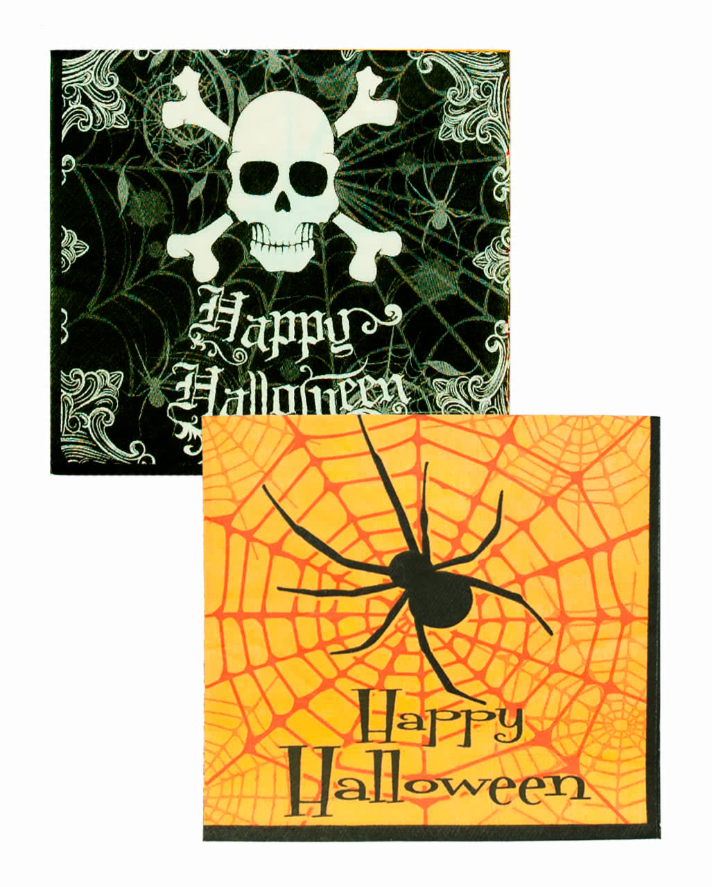 Halloween servietten mit spider skull als halloween - Tischdekoration halloween ...