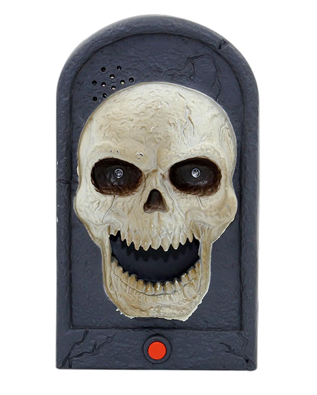 Decorating Ideas > Halloween Doorbell Skull Light & Sound As Scary Deko  ~ 084113_Halloween Doorbell Sounds