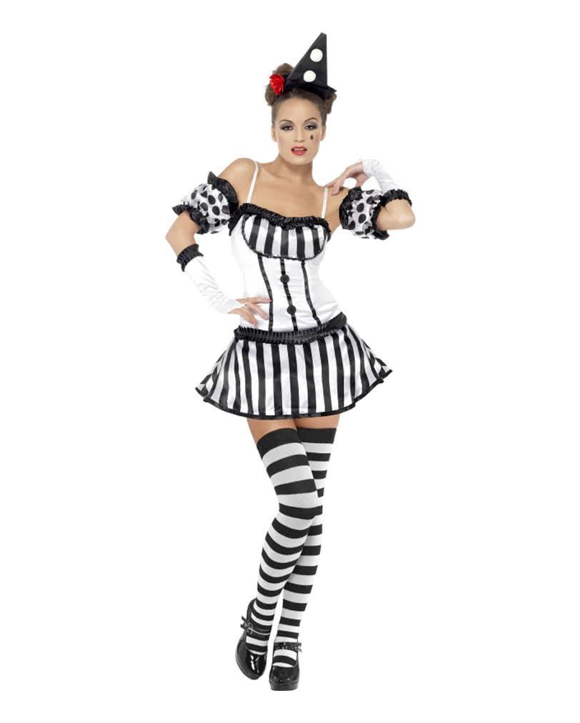 harlekin diva kost m clownsverkleidung f r damen horror. Black Bedroom Furniture Sets. Home Design Ideas
