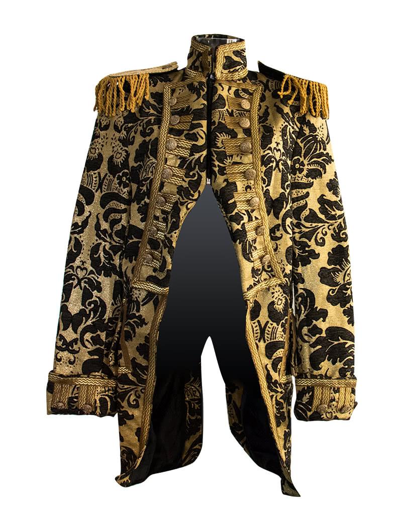 zirkusdirektor jacke schwarz gold herr der manege kost m. Black Bedroom Furniture Sets. Home Design Ideas