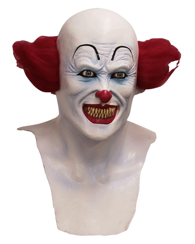 horror clown maske mit brustteil zirkus masken online kaufen horror. Black Bedroom Furniture Sets. Home Design Ideas
