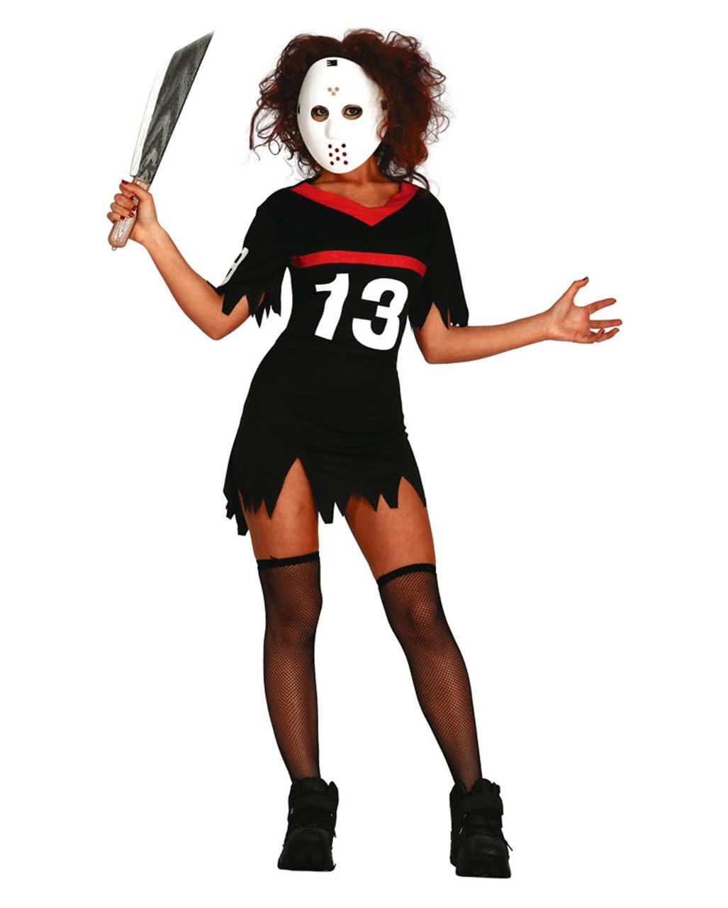 eishockey damenkost m mit maske horror kost me f r halloween horror. Black Bedroom Furniture Sets. Home Design Ideas