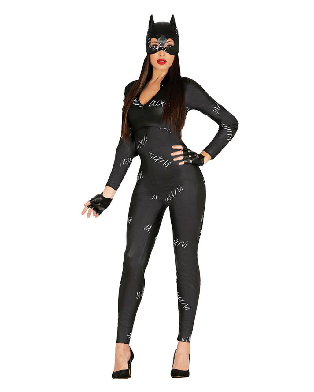 sexy cat jumpsuit women 39 s costume catsuit for halloween parties horror. Black Bedroom Furniture Sets. Home Design Ideas