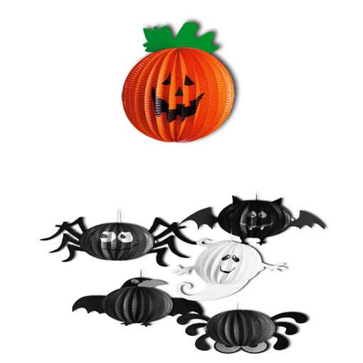 lampion k rbis h ngedeko als halloween laterne beleuchtung horror. Black Bedroom Furniture Sets. Home Design Ideas