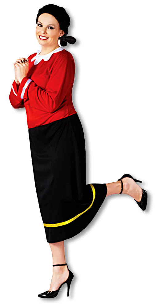 original olive oyl costume plus size olivia oyl dress popeyes girlfriend horror. Black Bedroom Furniture Sets. Home Design Ideas