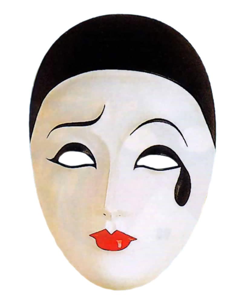 Pierrot Maske PVC
