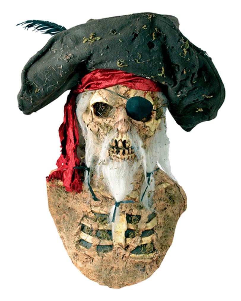 piraten maske mit hut seer uber maske aus latex horror. Black Bedroom Furniture Sets. Home Design Ideas