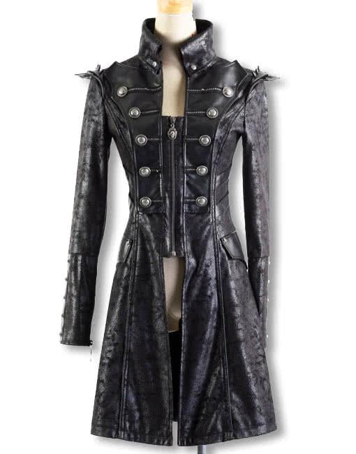 punk mantel in schlangenleder optik gothic m ntel und punk jacken vom feinsten horror. Black Bedroom Furniture Sets. Home Design Ideas