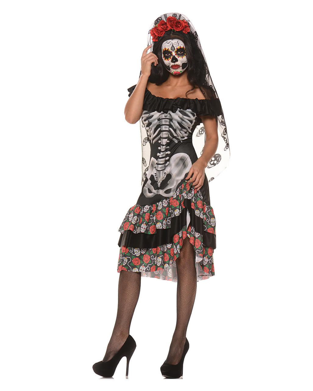 queen of the dead costume sugar skull costume horror. Black Bedroom Furniture Sets. Home Design Ideas
