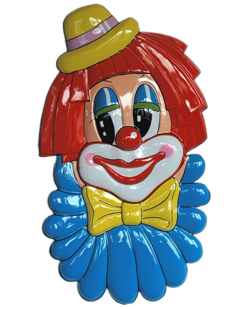 riesige clown wanddeko zirkusclown dekoration horror. Black Bedroom Furniture Sets. Home Design Ideas