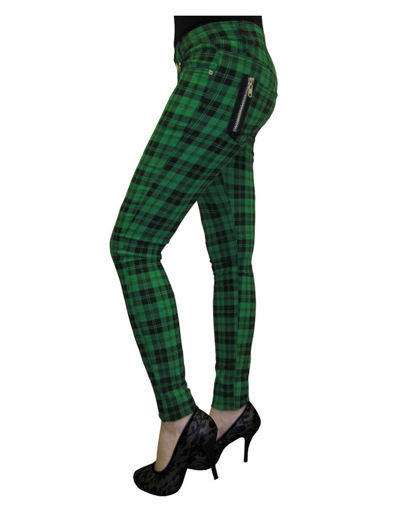 tartan skinny jeans gr n r hrenjeans punk hose. Black Bedroom Furniture Sets. Home Design Ideas