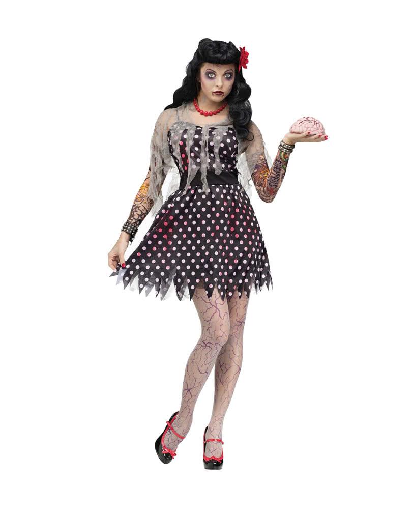 Rockabilly zombie costume zombie rock n roll dancer for Rockabilly outfit damen
