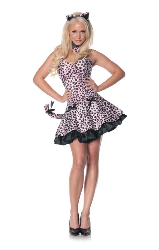 rosa leoparden kleid rosa minikleid im leoparden design. Black Bedroom Furniture Sets. Home Design Ideas