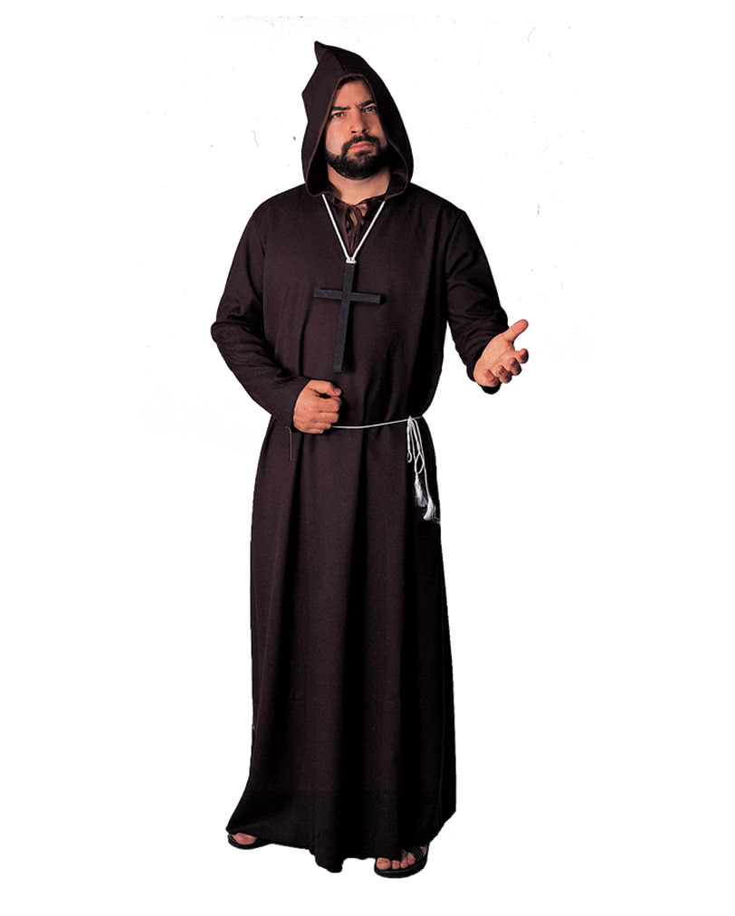 black monk s robe deluxe friar costume abbot costume. Black Bedroom Furniture Sets. Home Design Ideas