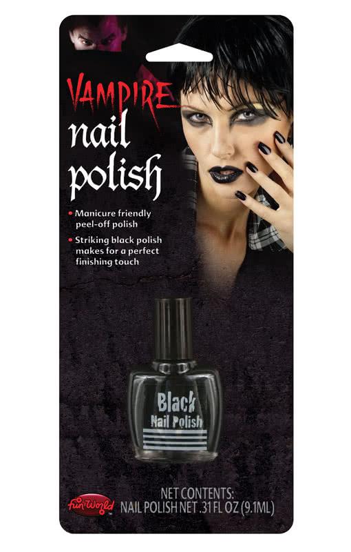 schwarzer nagellack hexen fingern gel halloween nagellack horror. Black Bedroom Furniture Sets. Home Design Ideas