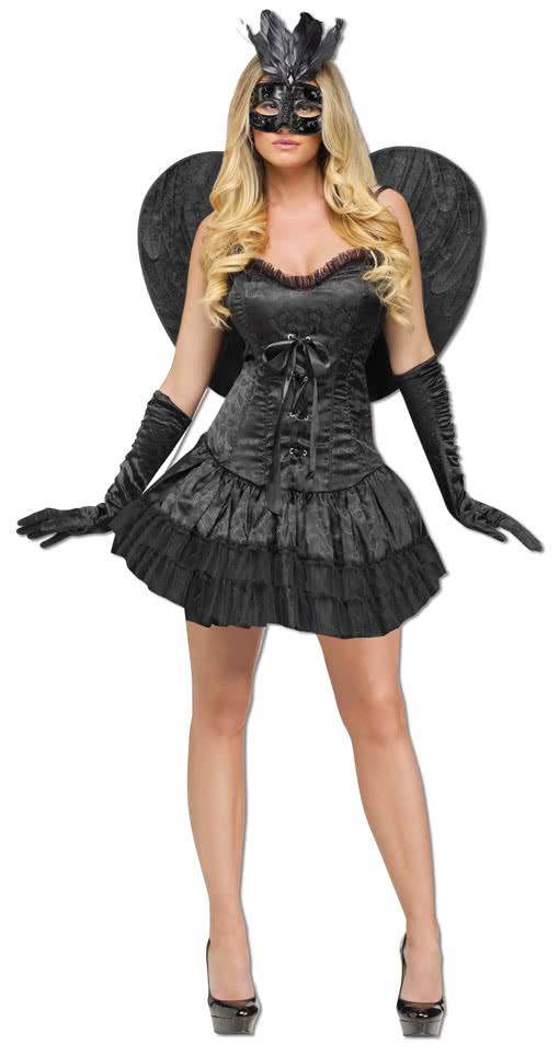 sexy schwarzer engel kost m schwarzes fetisch kost m. Black Bedroom Furniture Sets. Home Design Ideas