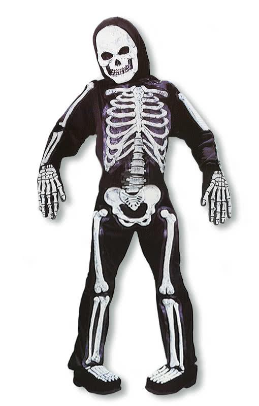 skelett 3d kinderkost m skelettkost m f r kinder mit 3d applikation horror. Black Bedroom Furniture Sets. Home Design Ideas