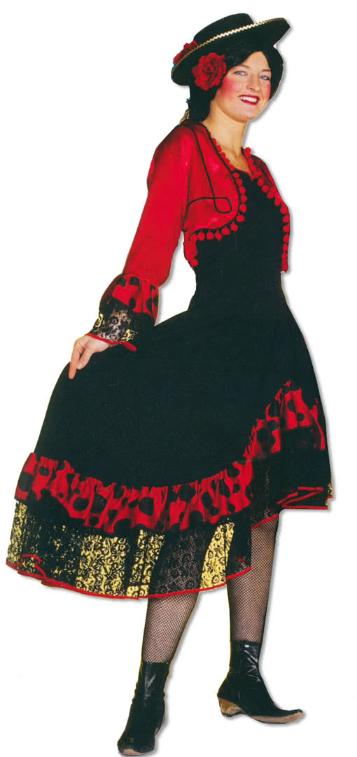 spanierin kost m flamenco kost m horror. Black Bedroom Furniture Sets. Home Design Ideas