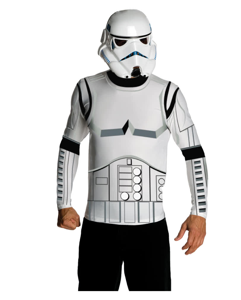 stormtrooper shirt und maske lizenziertes star wars. Black Bedroom Furniture Sets. Home Design Ideas