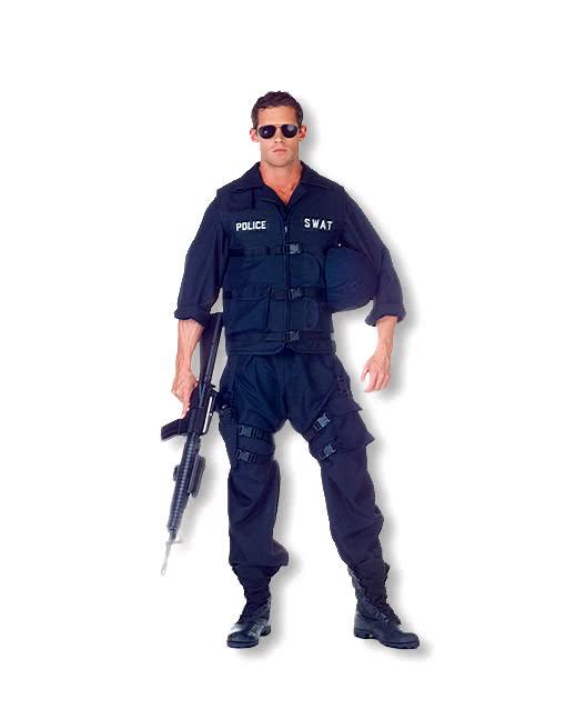 swat men costume u s police costume swat team costume horror. Black Bedroom Furniture Sets. Home Design Ideas