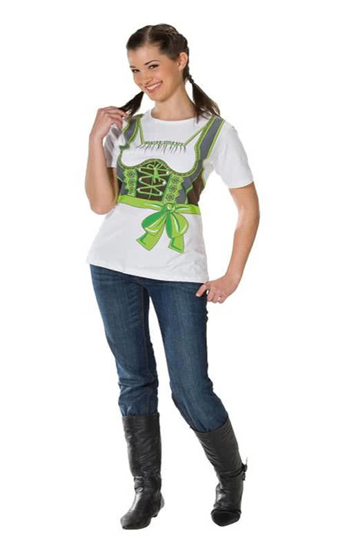 shirt green dirndl plus size t shirt in xl with printed front. Black Bedroom Furniture Sets. Home Design Ideas