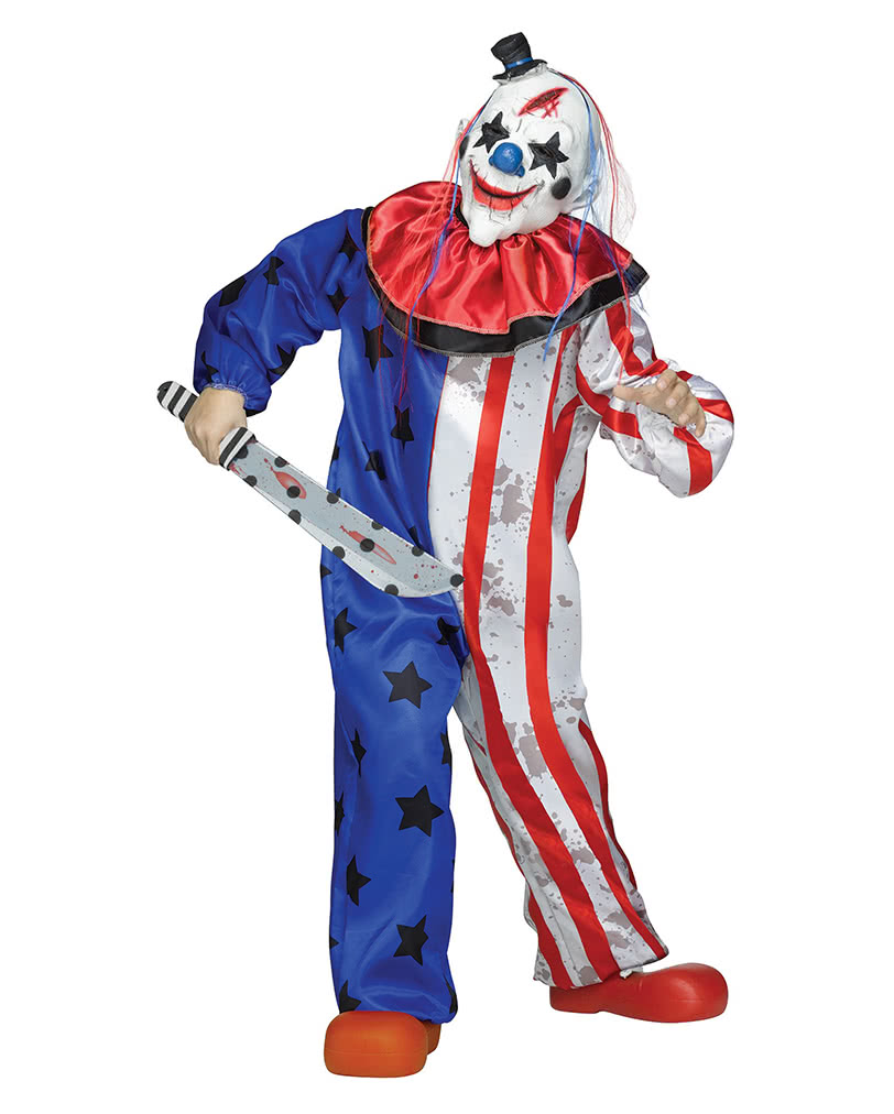 horror zirkus clown kinderkost m mit maske f r halloween horror. Black Bedroom Furniture Sets. Home Design Ideas